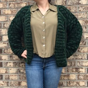 Vintage Hand Made Chunky Knit Soft Cardigan